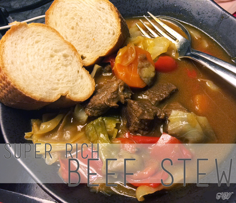 super rich beef stew