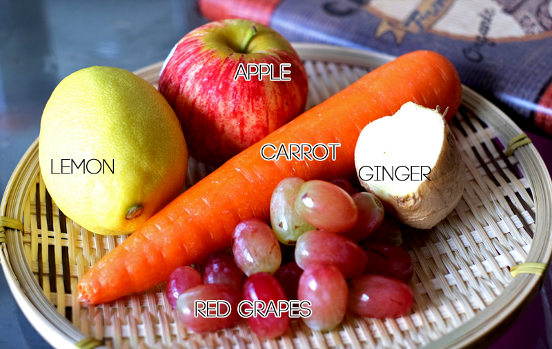 Carrots, Apple and Ginger Smoothie ingre list