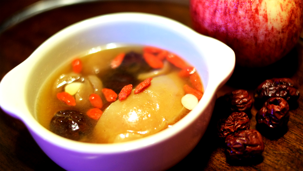 Double-Boiled Apple Soup