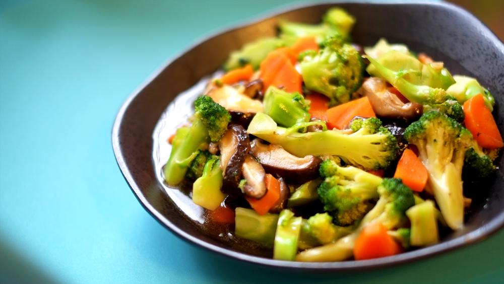 Broccoli, Carrots and Mushroom Stifry