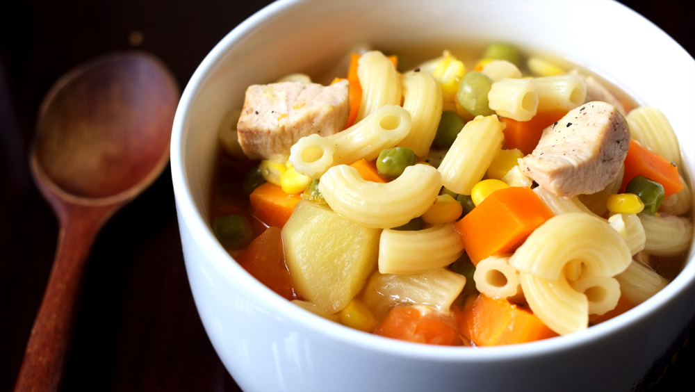Vegetable and Chicken Pasta Soup