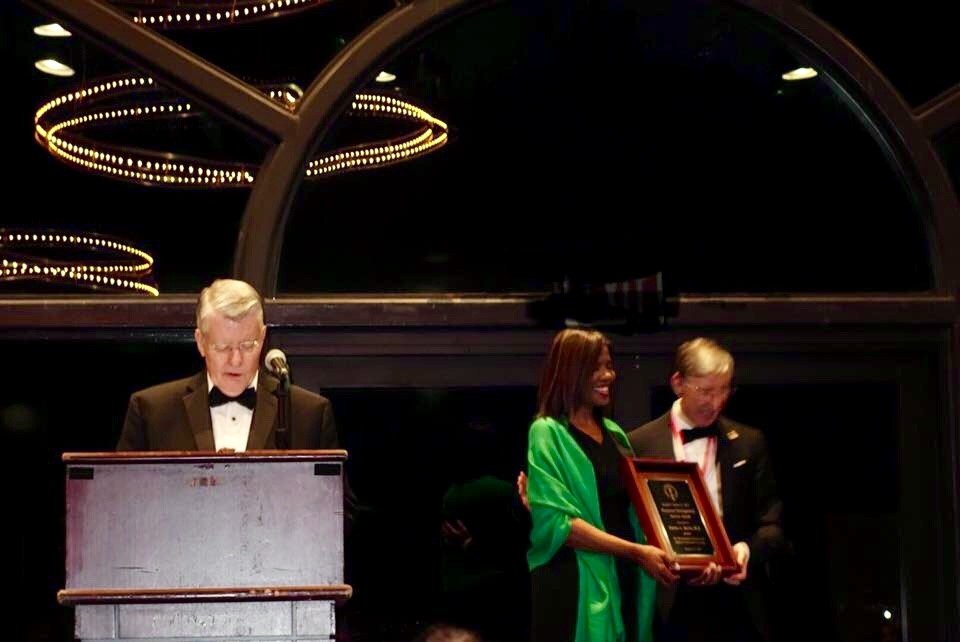 Accepting the Joseph P. Bailey Jr., MD, Award