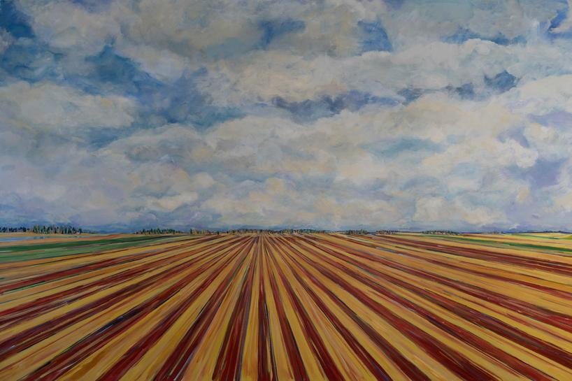Louisiana Vibrations Red River Valley | 7' x 12' Acrylic | Louisiana State Exhibit Museum | Shreveport, Louisiana | Permanant Collection