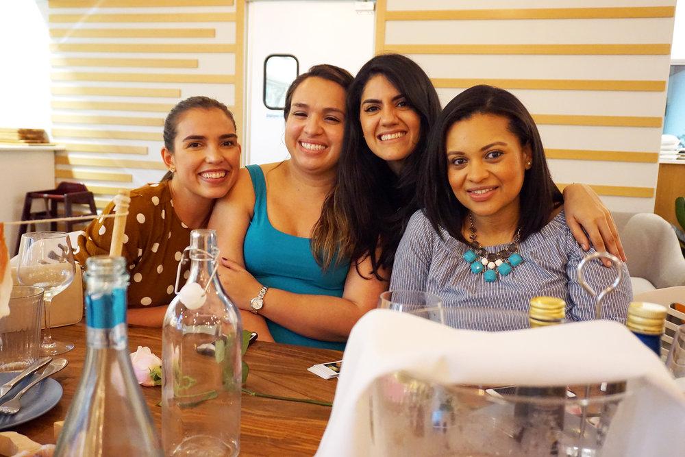 Viviana, Coco, Dani and Meli