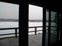 Looking Out to Back Lake