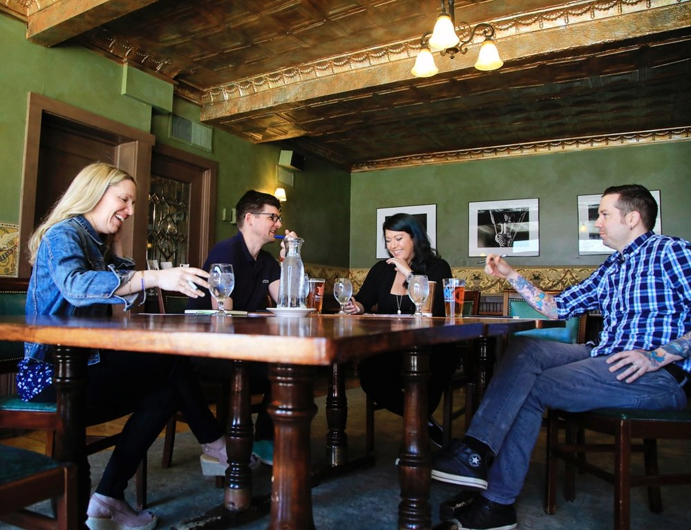Clockwise from the Left: Kate Johnson, Chris Johnson, Jen Hudson, and Dan Hudson - Photo Credit:  Jen Hudson Photography