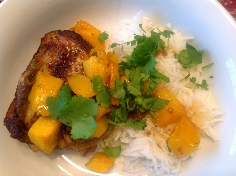 Masala Chicken with Mangoes from Food Therapy