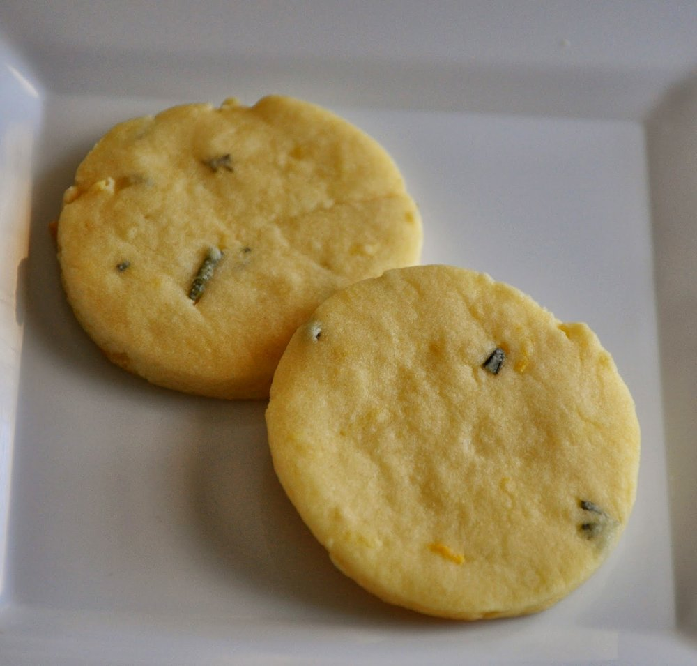 Lemon Rosemary Shortbread Cookies from Two Peas and Their Pod
