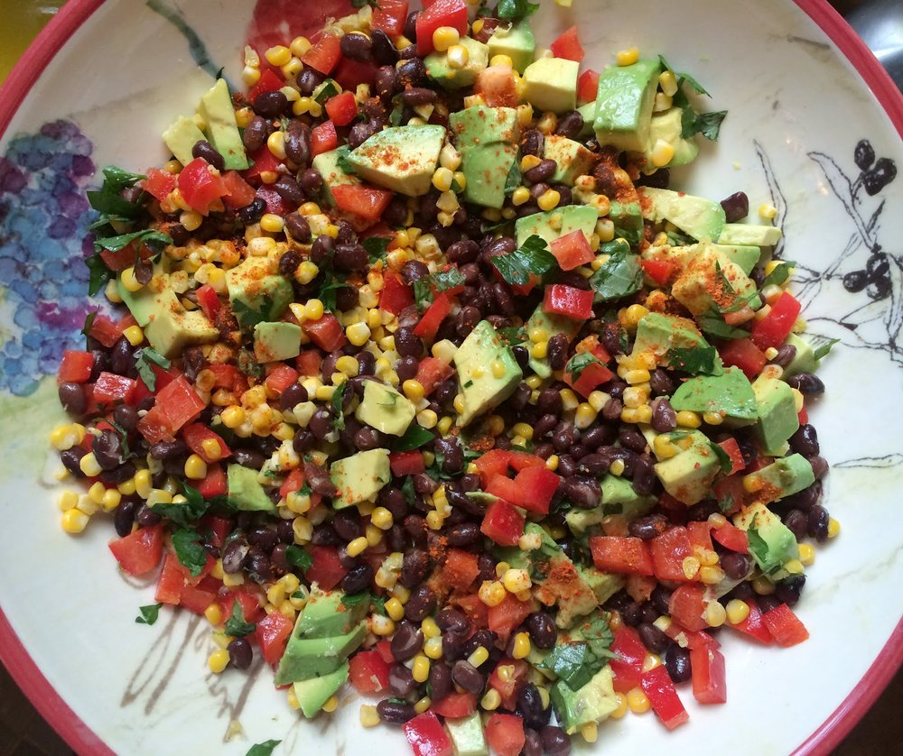 Black Bean, Corn, and Avocado Salad