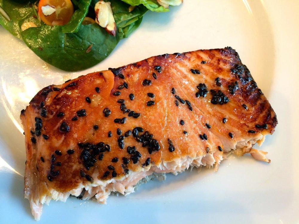 Honey-Sesame Glazed Salmon