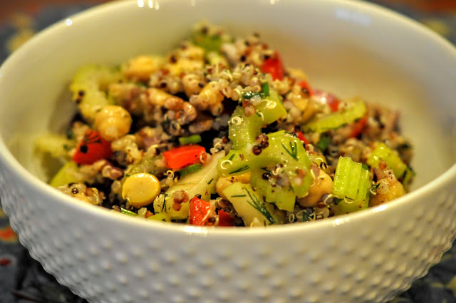 Crunchy Celery, Chickpea, and Quinoa Salad