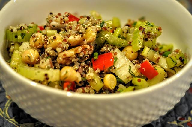Crunchy Celery, Chickpea, and Quinoa Salad