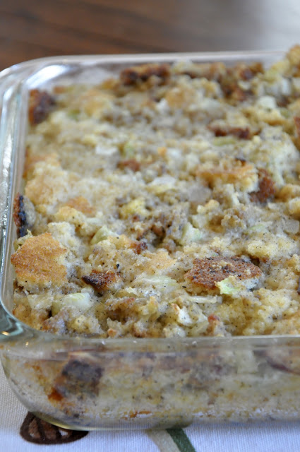 Sausage Cornbread Dressing from Food Therapy