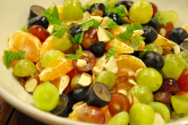 Fruit Salad with Almonds and Mint from Food Therapy