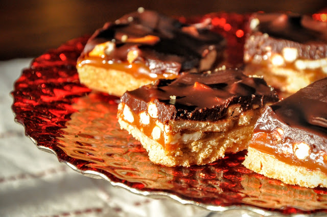 Chocolate Caramel Crunch Bars from Food Therapy