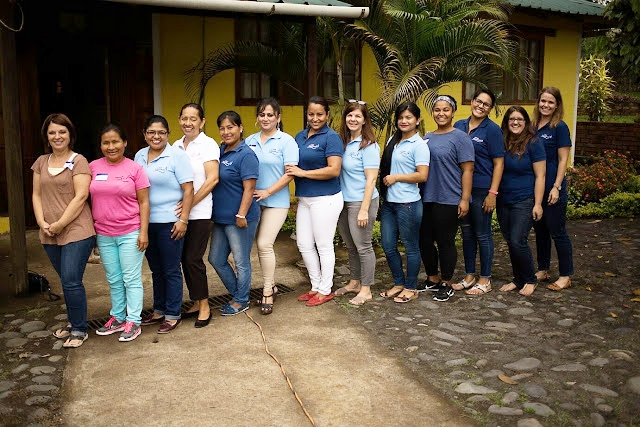 Pictured above are 13 of the 15 women on Staff at Ecuador Hope House.