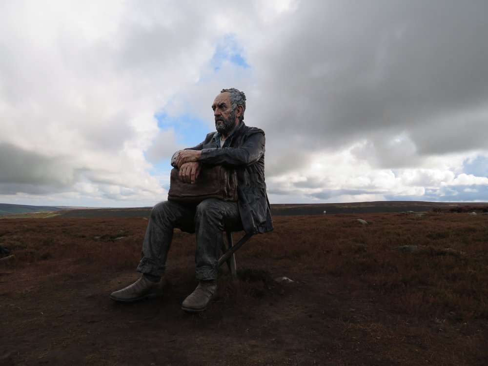 Man On The Moor at Castleton Rigg.