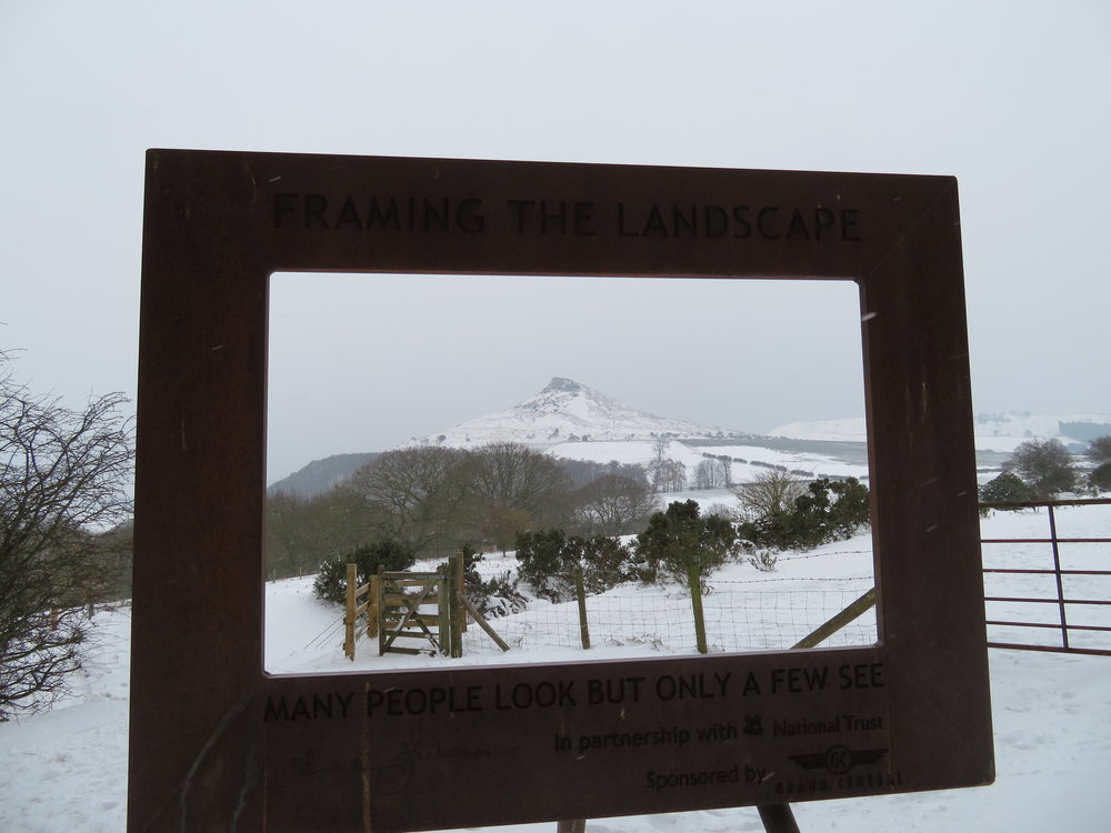 Winter View of Roseberry Topping from Newton Woods.