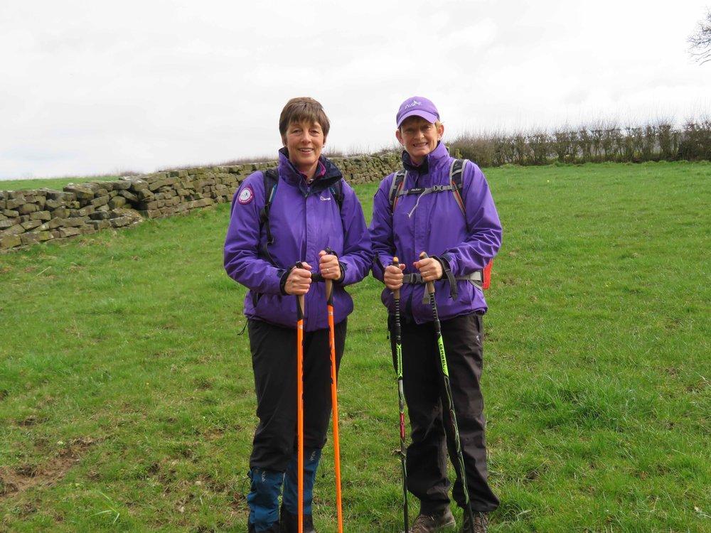 Jo and Pat, Coast and Moors Nordic Walking Guides.
