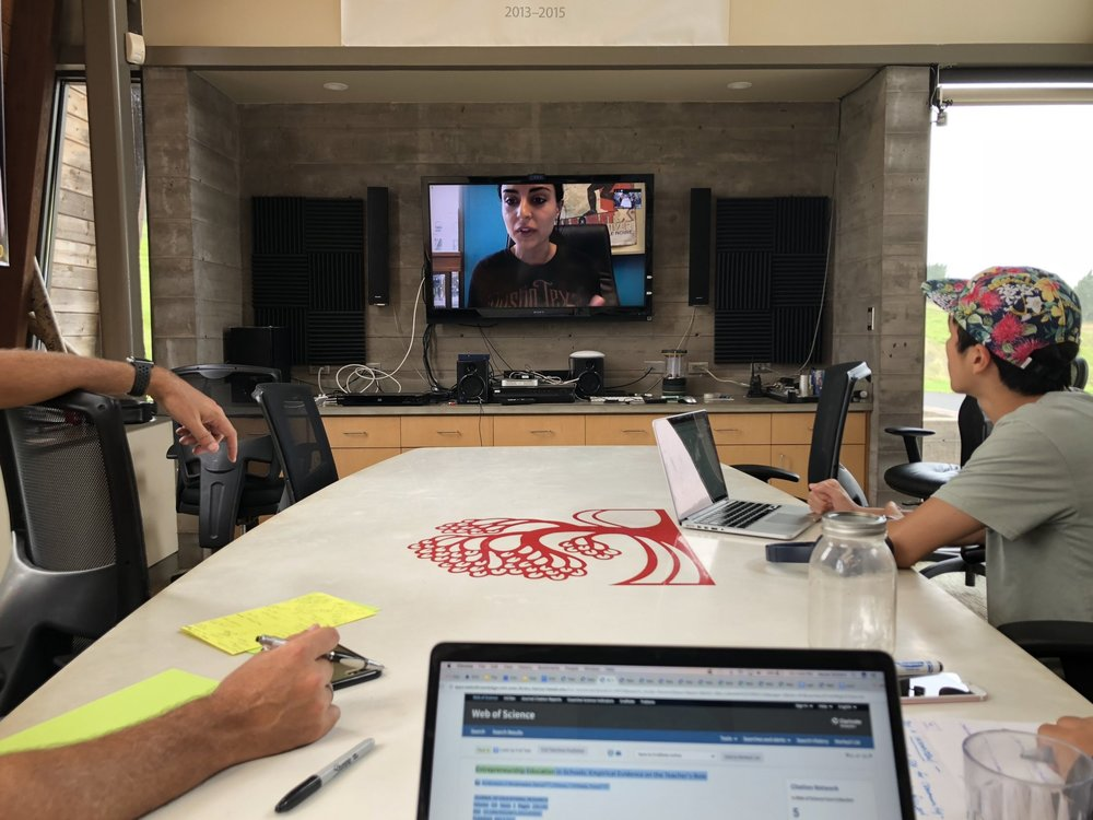 May Samali joined Nalukai 2018 yesterday over video conference.  Photo by Aaron Schorn.