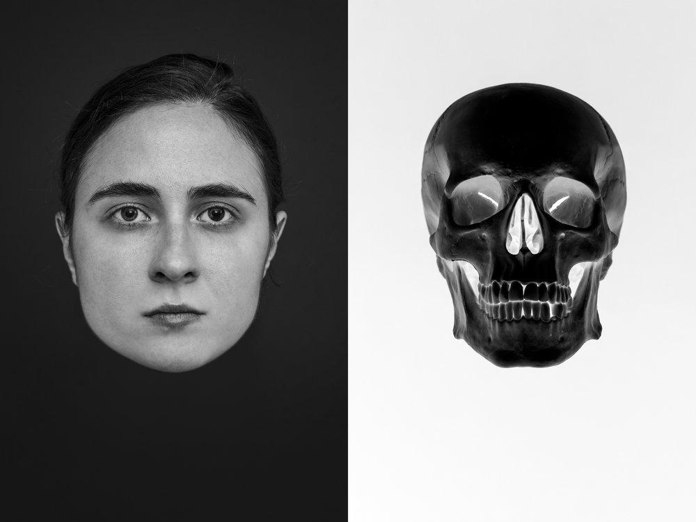 Memento mori , Self-portrait, Diptych, 2018