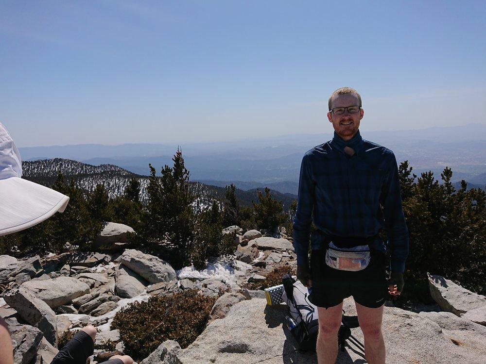On top of San Jacinto.
