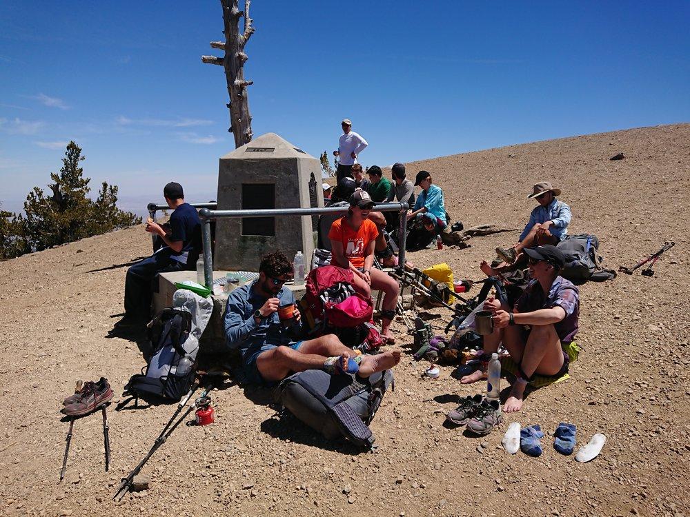 Hiker trash near the summit of Mt. Baden-Powell