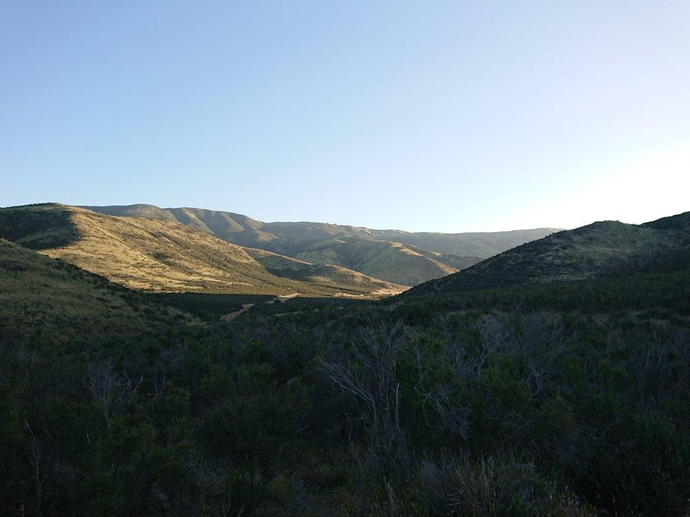 Beautiful green valley leaving Hiker Heaven