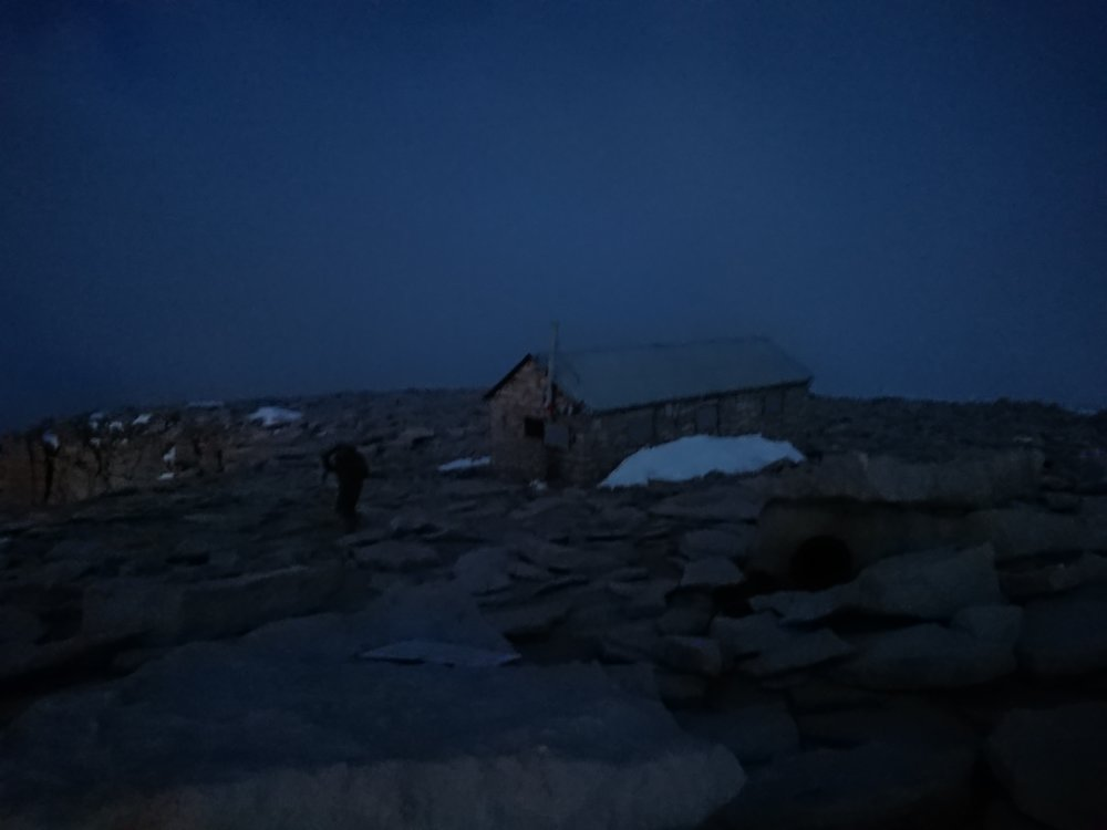 The quite useless shelter in the dark