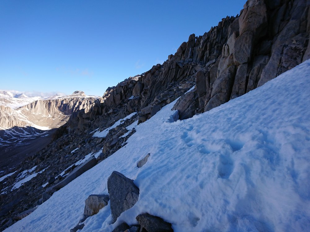 Some of the snow we had to cross to ascent and descend Mt Whitney