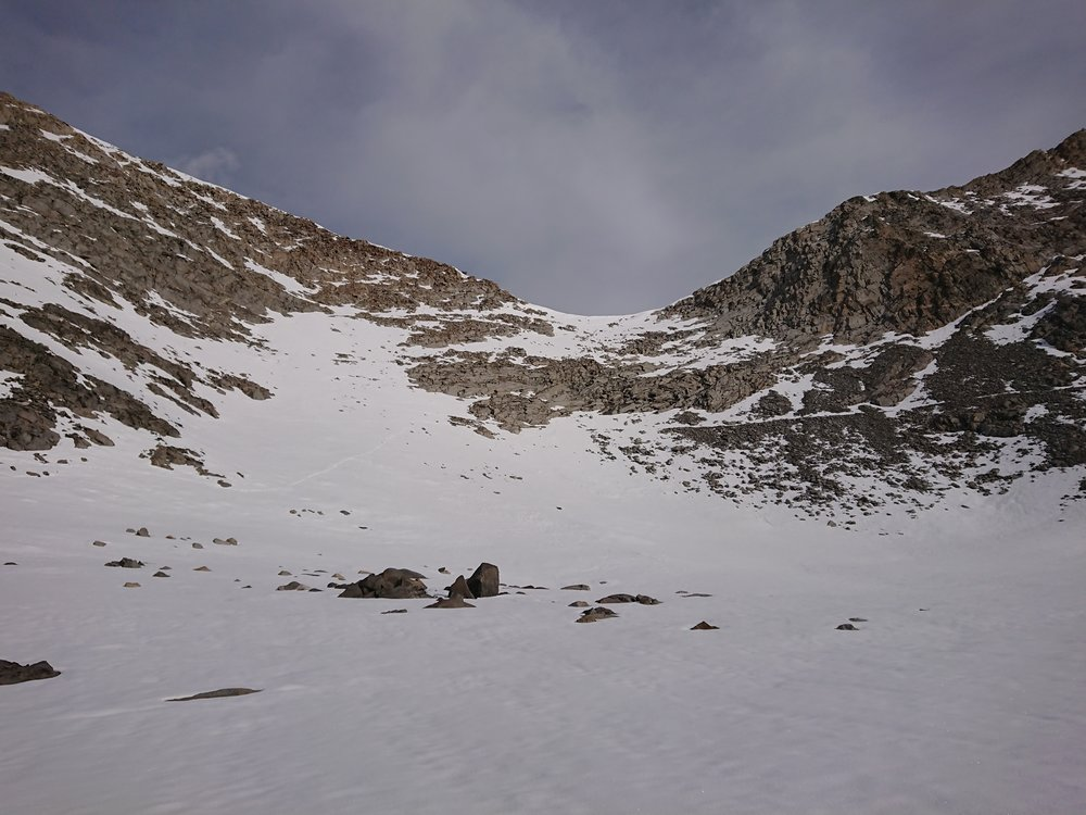 The impressive Southern face of Mather Pass