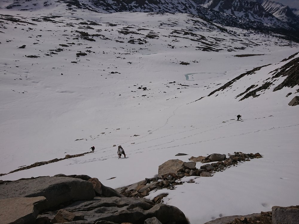Climbing up the pass was quite the task and a few different strategies were employed