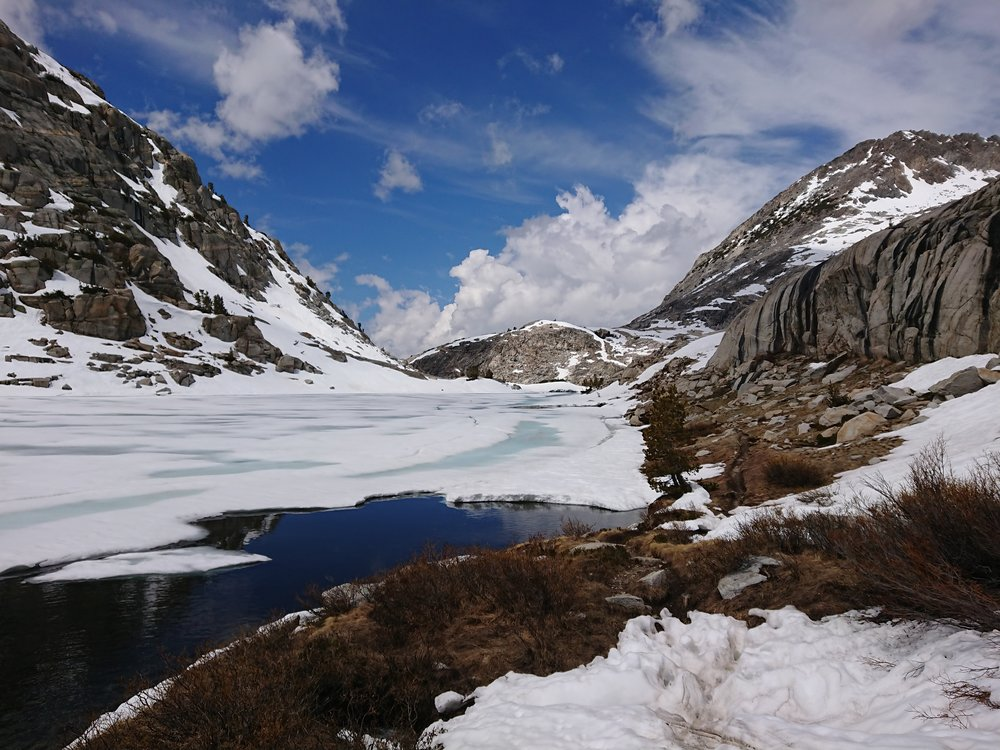 Lovely lake on the way down from Mather Pass