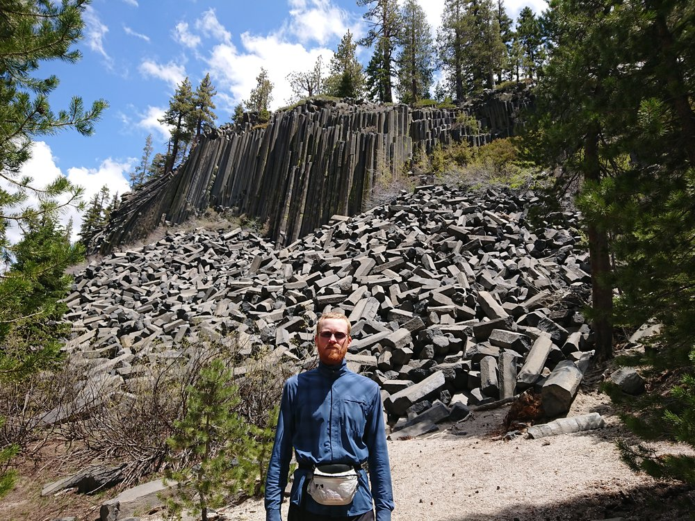 We took a small detour to see the Devils Postpile