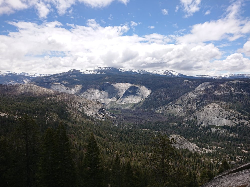 The climb up to Half Dome presented us with great views