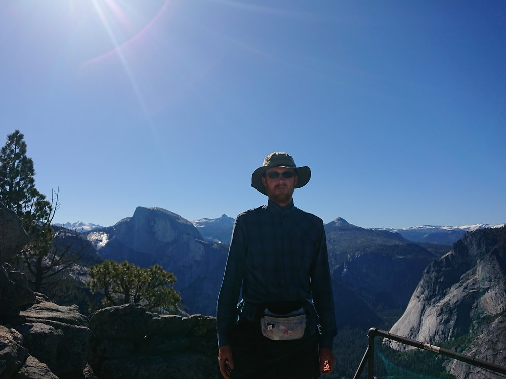 Posing in front of Half Dome
