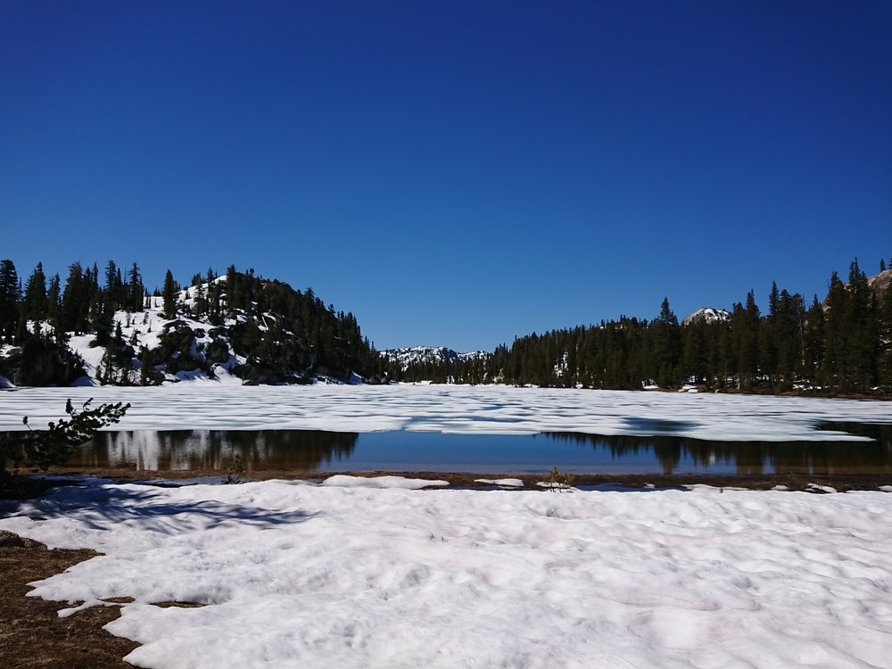 We have seen so many beautiful ice covered lakes in the Sierra