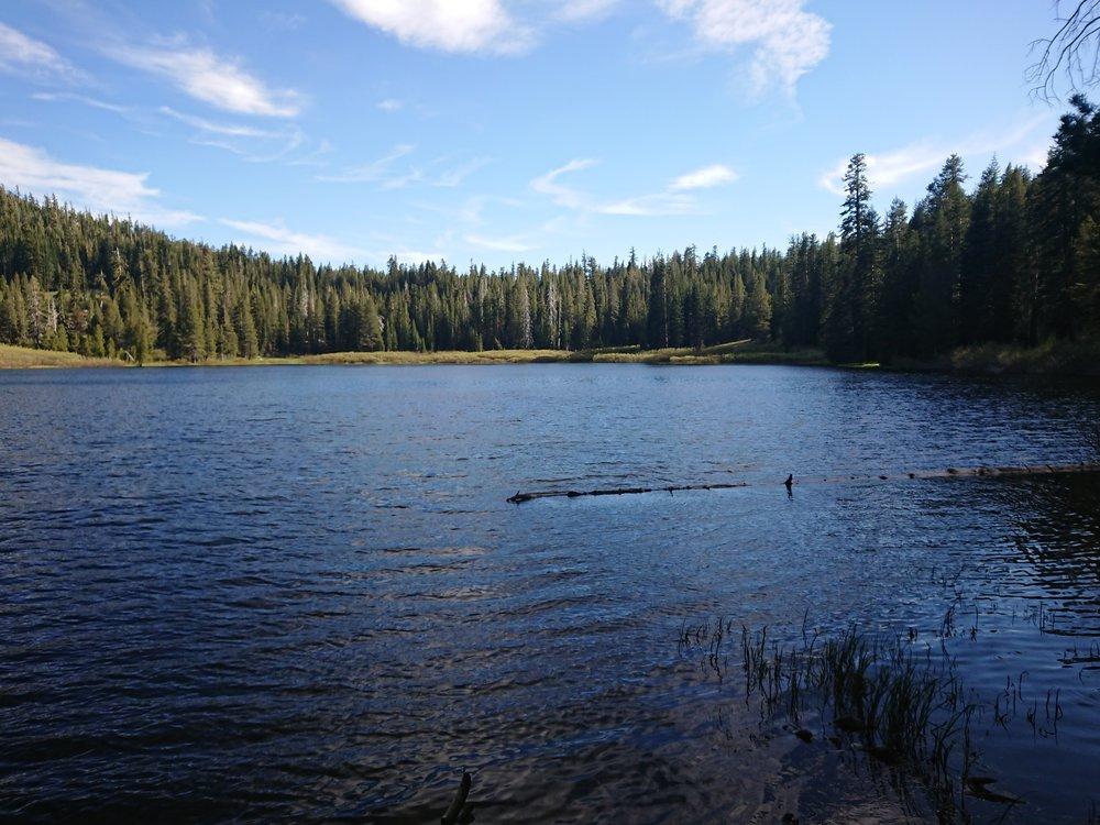 Lake Richardson where I considered camping