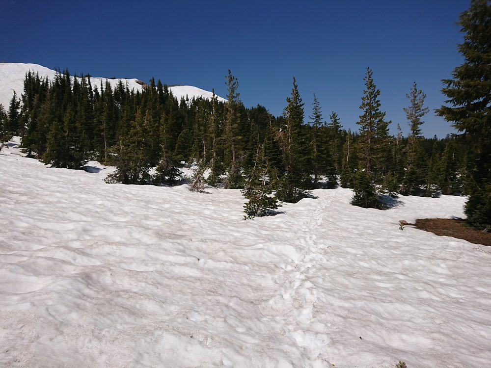 Some later areas had even more snow