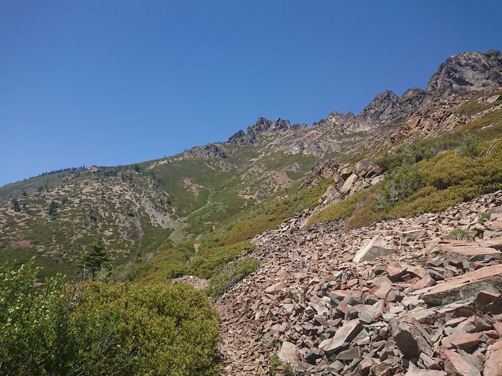 The climb out of Sierra City was quite stony in places but the climb was very beautiful