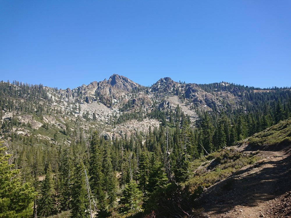 Looking back at the Sierra Buttes