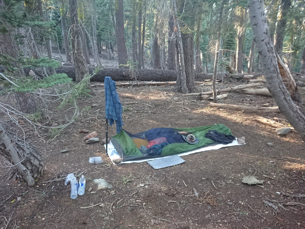 My camp for the night, I use the bivy every night now it seems because of the bugs