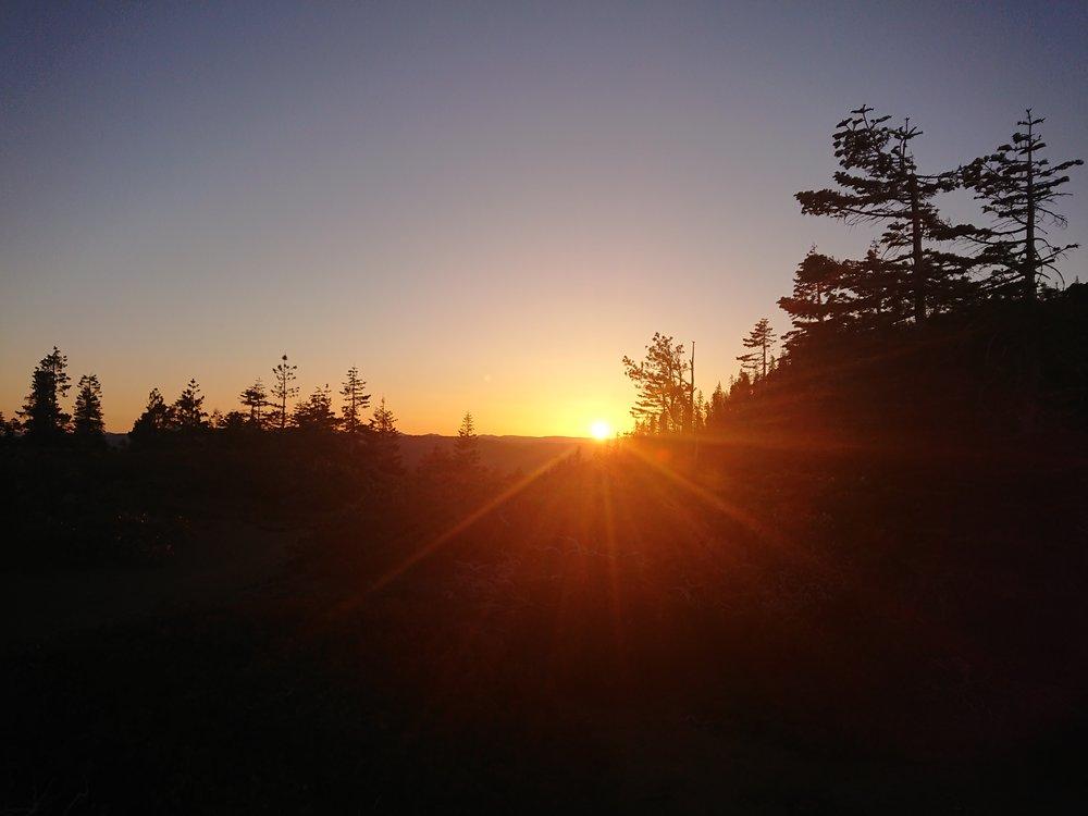 Beautiful sunrise from my camp