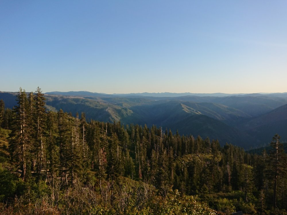 I had some nice views before starting the descent to Belden
