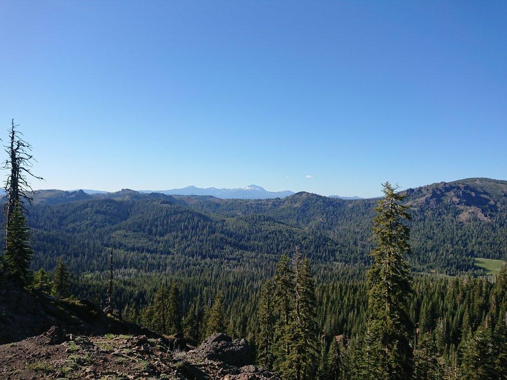 When I had finished climbing I again had nice views
