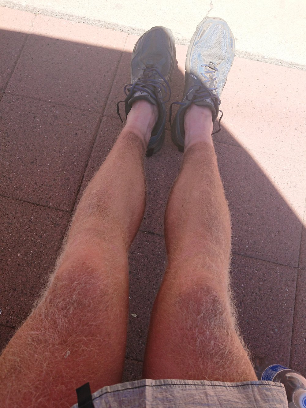 My legs are showing a bit of a hiker tan which is a mix of dirt and sun tan