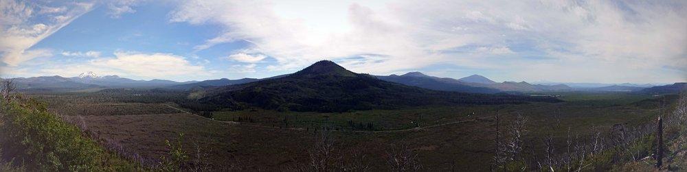 Hat Creek Rim had amazing views