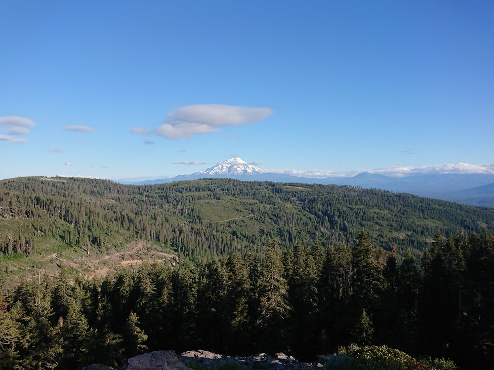 Mount Shasta is much closer now but now to the north