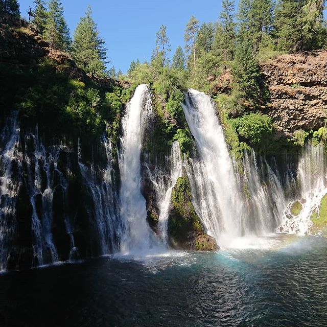 Burney Falls is definitely worth the side trip.  #pct #pct2018 #hiking #thruhike #thruhiking #thruhiker #backpacking #trekthepct #wehike #mexicotocanada #nature #liveoutdoors #pacificcresttrail