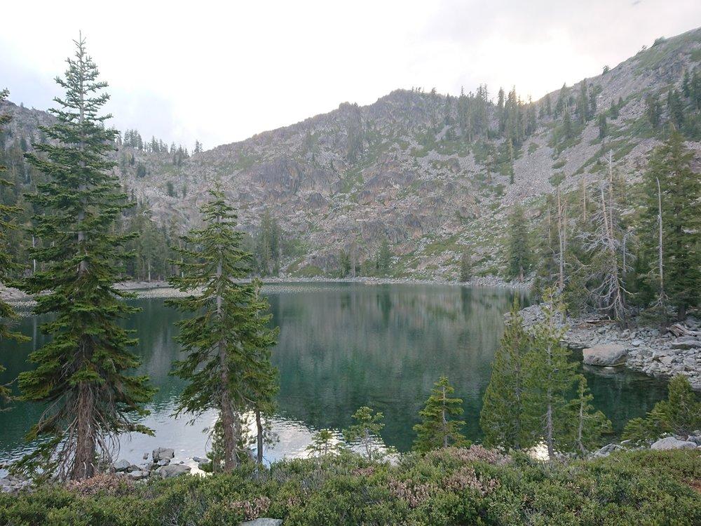 Porcupine Lake where I camped